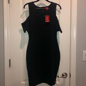 Cold shoulder little black dress
